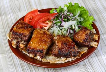 Lamb ribs bbq
