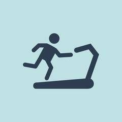 Icon of Runner On Treadmill. EPS-10.