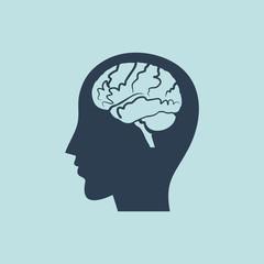 Icon Of Human Head & Brain. EPS 10