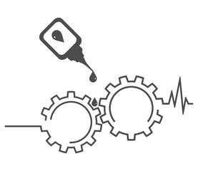 Repair of equipment. Gears, cardiogram, oilcan