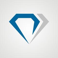 simple diamond logo