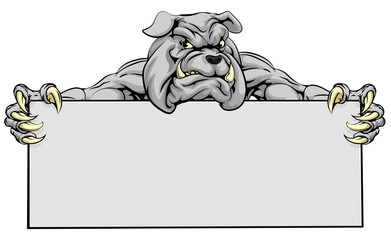 Bulldog Sports Mascot Sign