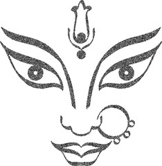 Durga Goddess of Power Stipple Effect