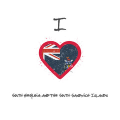 I love South Georgia and the South Sandwich Islands t-shirt desi