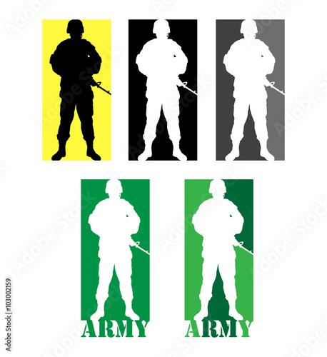 365ef6b64e2 Army military soldier symbol 08. Good use for symbol, logo, web icon ...
