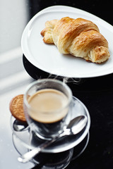 Croissant and Coffee. French Breakfast