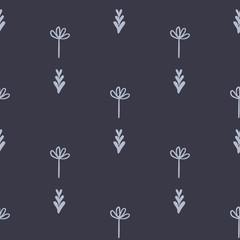 Cute floral geometric seamless vector pattern