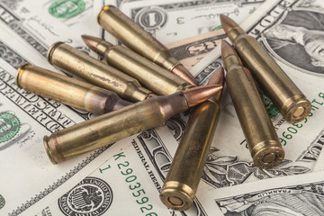 Rifle Bullets on Banknotes