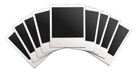 Polaroid creative illustration. Vector art.