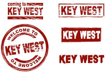 Ink stamp set city Key West