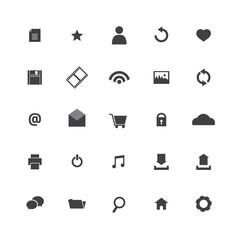 Black Website Vector Icons Set.