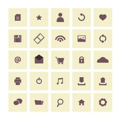 Vintage  Website Vector Icons Set.