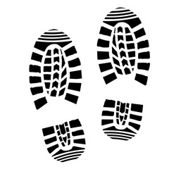Shoe Print Silhouette