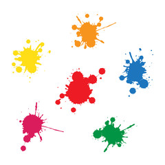 colorful ink blobs