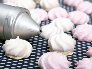 small spiral meringues - shallow depth of field
