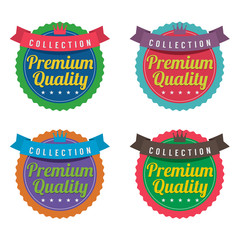 Set of Colorful Round Labels.