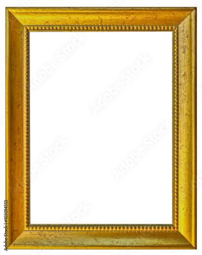 Cadre Dor Fond Blanc Photo Libre De Droits Sur La Banque D 39 Images Image 103014513