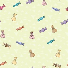 Seamless background pattern of candy
