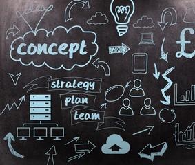 Composite image of brainstorm graphic