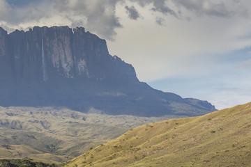 Tablemountain Roraima with clouds, Venezuela, Latin America.
