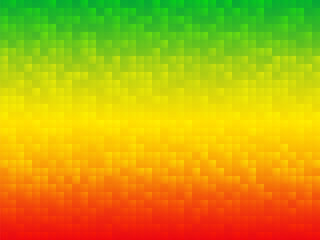yellow green red mosaic background