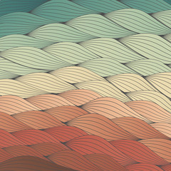 Colorful Waves Backdrop Texture - Vector Illustration
