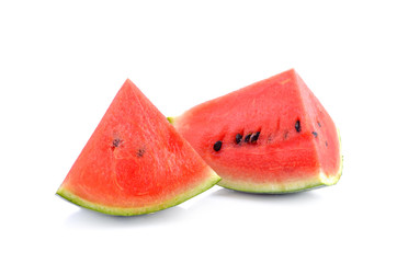 watermelon sliced  on white background