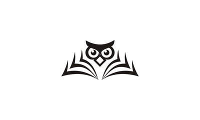owl open book education logo