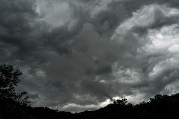 very cloudy sky