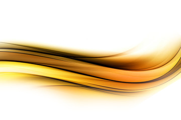 beauty abstract yellow orange waves  background