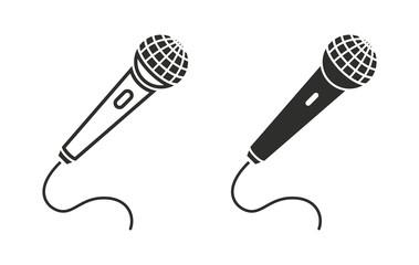 Microphone - vector icon.