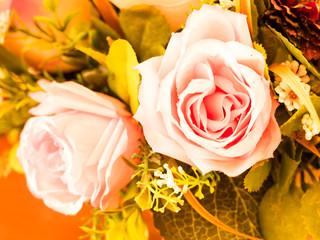 Pink roses flowers. vintage style