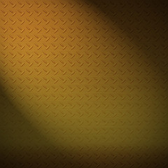Brass diamond plate background