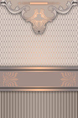 Wall Mural - Vintage background with decorative border.