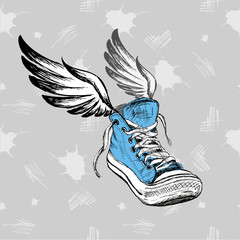 Vintage Sneakers with wings