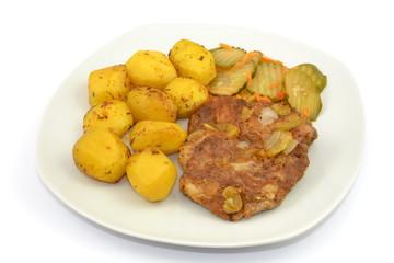 pieczone ziemniaki z karkówką