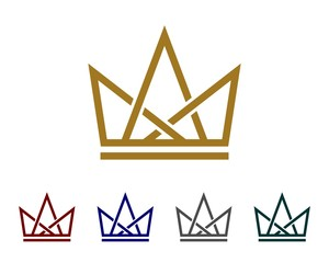 Crown Line Logo Template