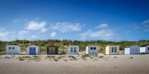 Texel beach storage sheds Wall mural