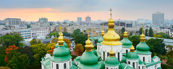 Cupola of St. Sophia Cathedral. Kiev