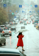 women cross the street