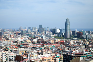 Vue de barcelone depuis la Sagrada Família