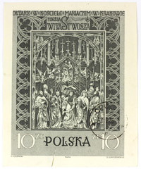 old polish stamp