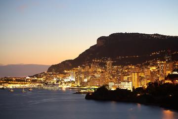 Monte Carlo Monaco at night