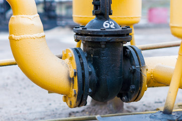 piping systems with pressure regulating valve, industrial equipment, interior