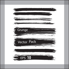 Grunge design brush elements. Vector illustration. Eps 10