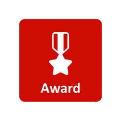 Award medal ribbon icon for web and UI