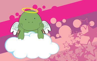sweet cherub turtle cartoon background in vector format very easy to edit
