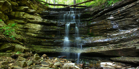 Monte Sano State Park Waterfall Landscape in  Alabama