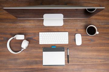 Workspace of a digital illustrator