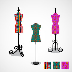 Isolated icon of colorful mannequin